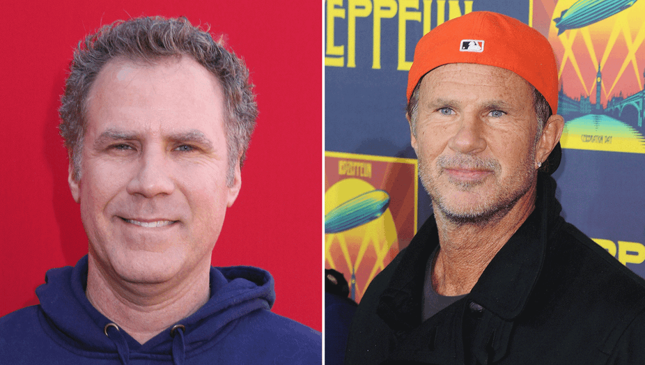 Komiker Will Ferrell og Chad Smith fra Red Hot Chili Peppers