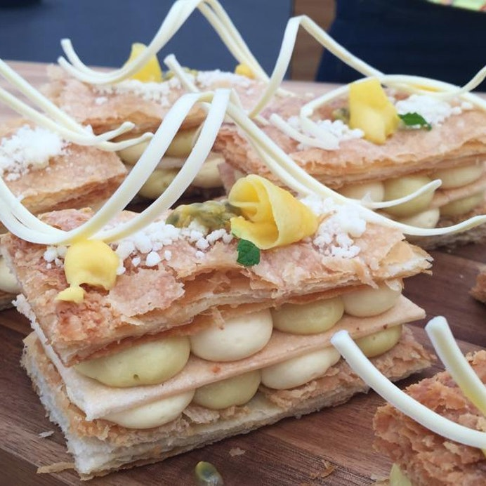 Millefeuille med passionsfrugt